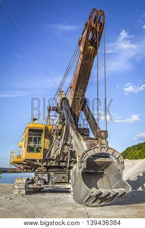 Old Yellow Excavator
