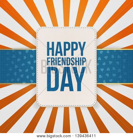 Happy Friendship Day Sale special Tag. Vector Illustration