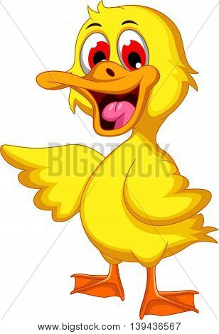 Cute baby duck cartoon for you design