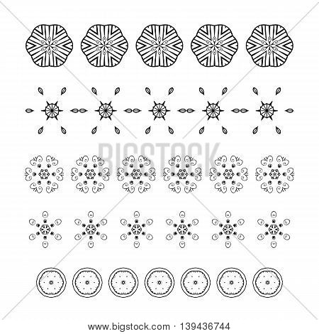 Hand Drawn Ornament Border And Abstract Design Element