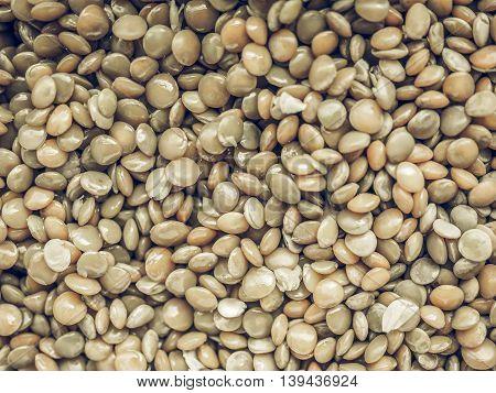 Lentils Food Vintage Desaturated