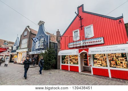 Amsterdam Holland, 4 December 2014 : Volendam is a town in North Holland in the Netherlands, in the municipality of Edam-Volendam. The town has about 22,000 inhabitants.This old fishing village is famous for its splendid harbour, fishing trade, authentic