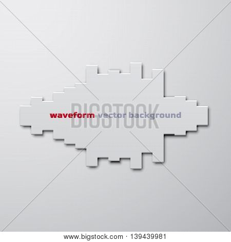 Silhouette of sound waveform sign with shadow