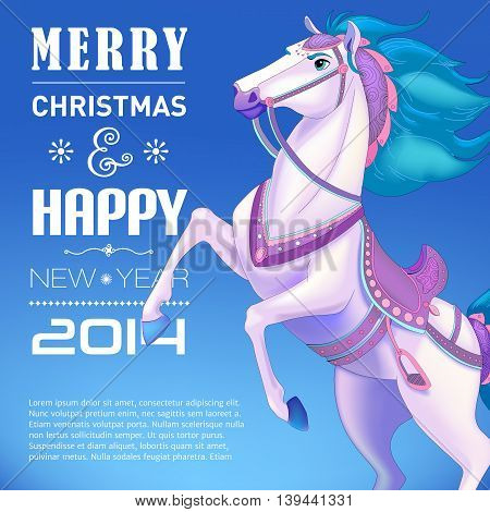 New Year Card for Year of the horse.