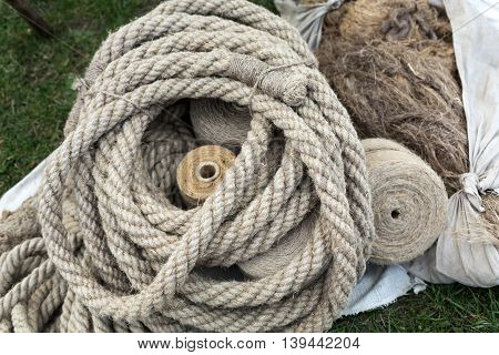 Close up of the rope with knot