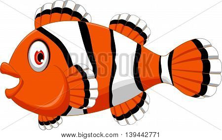 clown fish cartoon smiling for you design