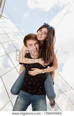 Inlove Couple Having Fun Outside
