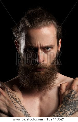 Nice Looking Macho Bearded Hipster