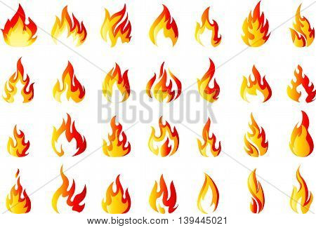 set of Fire icons for you design