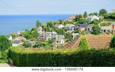 Coastal village of Beer in Devon England
