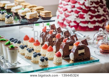 pastries on the branch table
