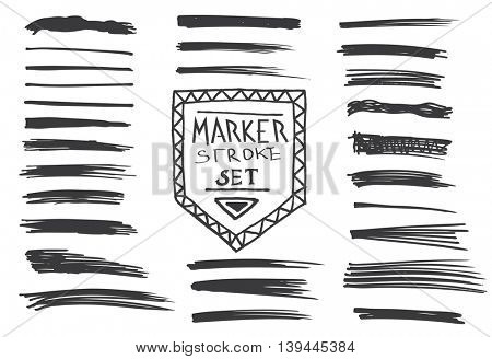 Permanent marker.  Marker stroke. Vector illustration