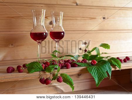 Raspberry Liqueur And Ripe Berries