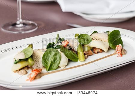 goat cheese with vegetables
