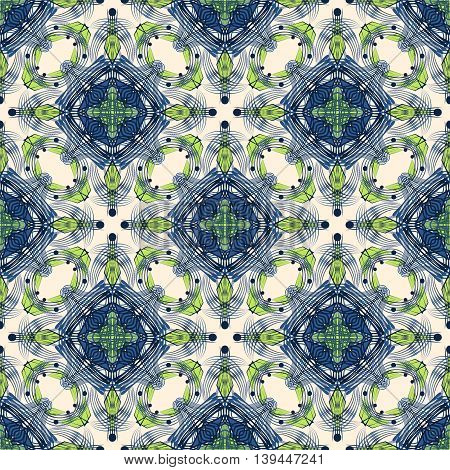 Seamless art deco modern pattern graphic ornament. Abstract stylish background repeating texture with stylized elements