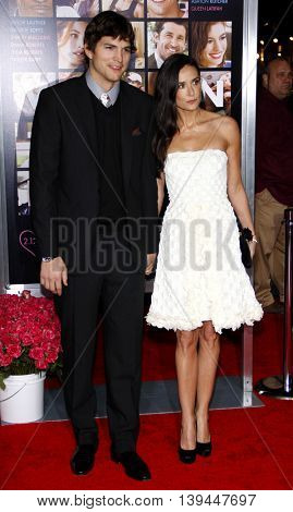 Ashton Kutcher and Demi Moore at the Los Angeles premiere of 'Valentine's Day' held at the Grauman's Chinese Theater in Hollywood, USA on February 8, 2010.