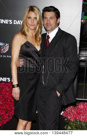 Patrick Dempsey and Jillian Fink at the Los Angeles premiere of 'Valentine's Day' held at the Grauman's Chinese Theater in Hollywood, USA on February 8, 2010.