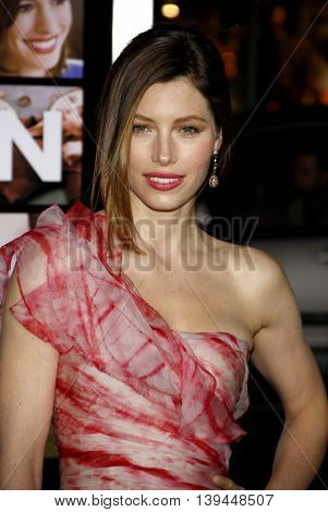 Jessica Biel at the Los Angeles premiere of 'Valentine's Day' held at the Grauman's Chinese Theater in Hollywood, USA on February 8, 2010.