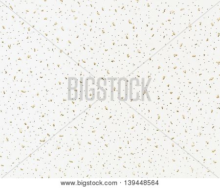 White cardboard surface with perforation and holes