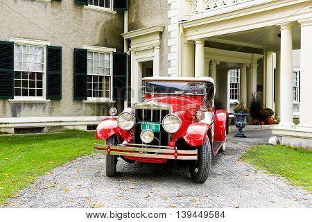 Manchester, Vermont - November 3, 2012: Hildene, The Lincoln Family Home