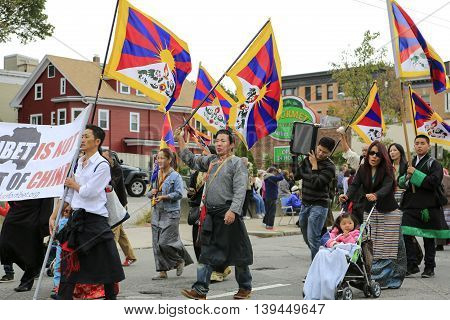 Boston, Ma - October 6, 2012: Columbus Day Parade