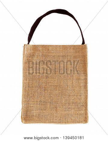 Hessian Bag Isolated