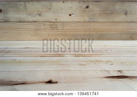 Wood pallets old pattern flooring for background.