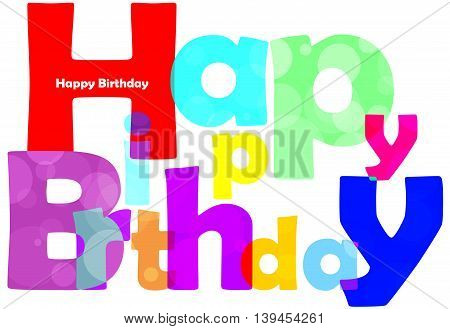 Happy birthday text on white background fort you design