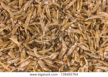 Dried Small Fish Anchovies Used In Asian Cuisine