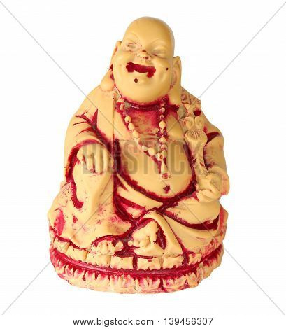 Hotei Buddha. Isolation on a white background