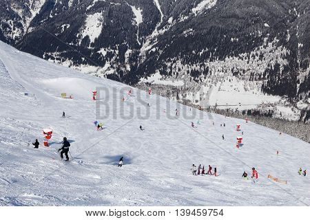 Ski resort in Austria - Bad Gastein in High Tauern (Hohe Tauern) mountain range in Alps.