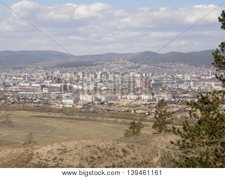 View of the city of Ulan-Ude. The Republic of Buryatia. Siberia. Russia.