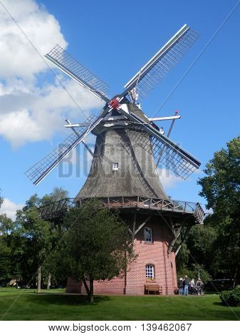 Old Brick Windmill