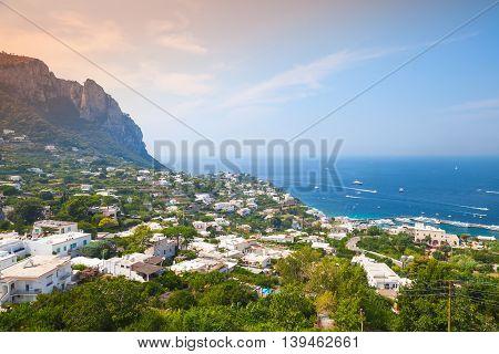 Coastal Landscape Of Capri Island, Italy