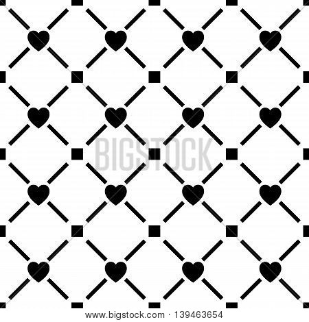 Seamless pattern repeating geometric tiles with diagonal lines texture with dotted elements vector illustration.