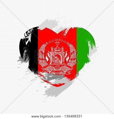 Vector Grunge Flag Of Afghanistan