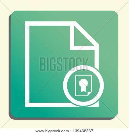 File Certificate Icon In Vector Format. Premium Quality File Certificate Symbol. Web Graphic File Ce