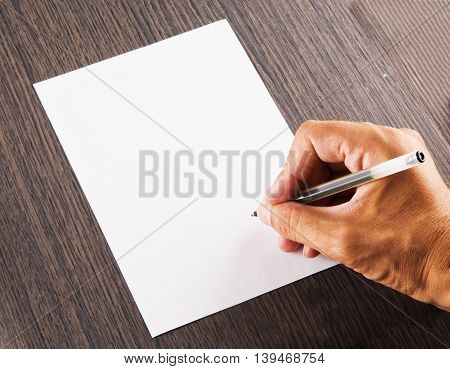 Male Hand Signing