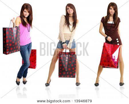 três fotos do modelo. garota compra