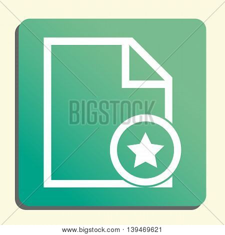 File Star Icon In Vector Format. Premium Quality File Star Symbol. Web Graphic File Star Sign On Gre