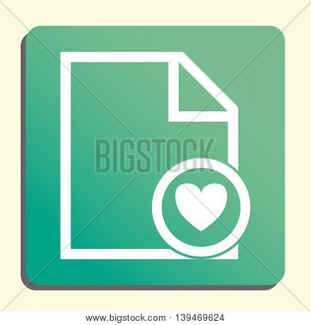 File Heart Icon In Vector Format. Premium Quality File Heart Symbol. Web Graphic File Heart Sign On