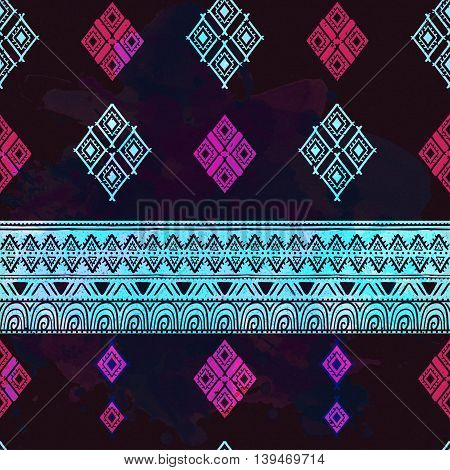 Ethnic perfect graphical ornament pattern ethnic style. Geometrical texture made in vector. Unique background for invitations, cards, textile any other kind of design, texture.