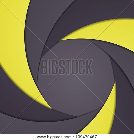 Abstract background like shutter aperture. Vector illustration