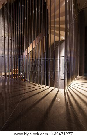 chongqing,china: design and decoration of modern staircase in hotel by zhudifeng on July,6,2016