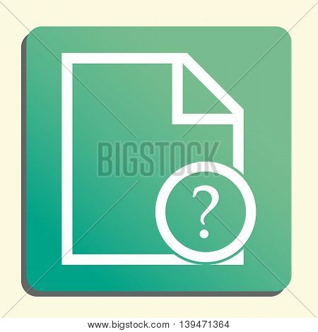 File Help Icon In Vector Format. Premium Quality File Help Symbol. Web Graphic File Help Sign On Gre