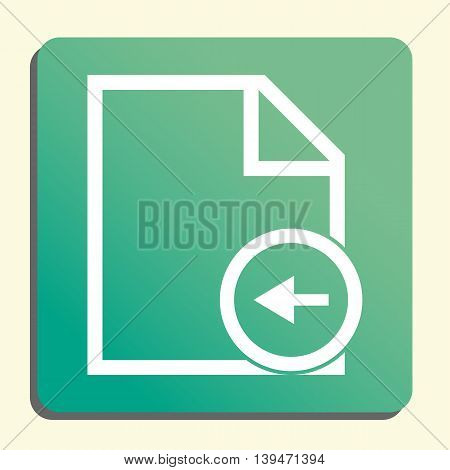 File Left Icon In Vector Format. Premium Quality File Left Symbol. Web Graphic File Left Sign On Gre