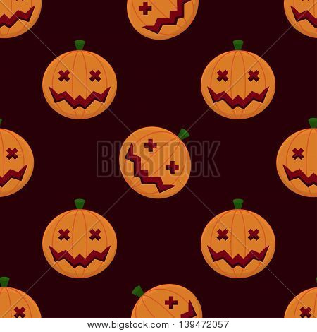 Halloween Seamless Pumpkin Pattern Background