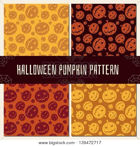 Halloween Pumpkin Pattern Set