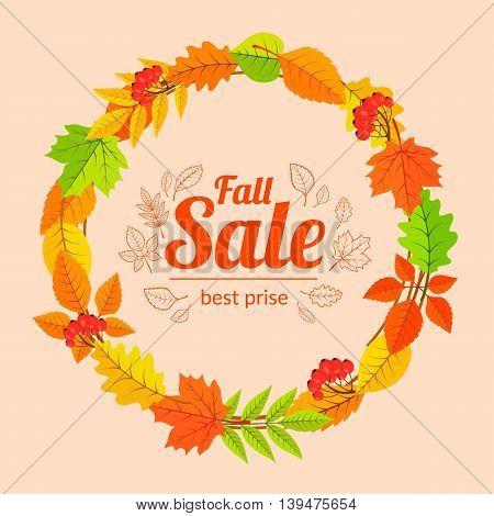 Autumn season background. Vector illustration easy to edit.