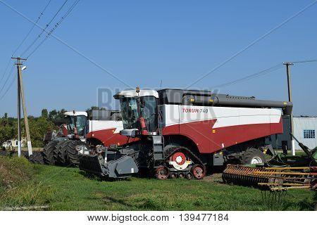 Combine Harvesters Torum. Agricultural Machinery.